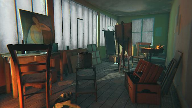 'The Ochre Atelier' for 'Modigliani' at Tate Modern on HTC Vive (Courtesy of Preloaded)