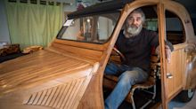 Frenchman builds working Citroën 2CV out of wood