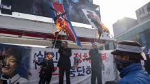 Delegação norte-coreana comparece ao encerramento dos Jogos de Inverno
