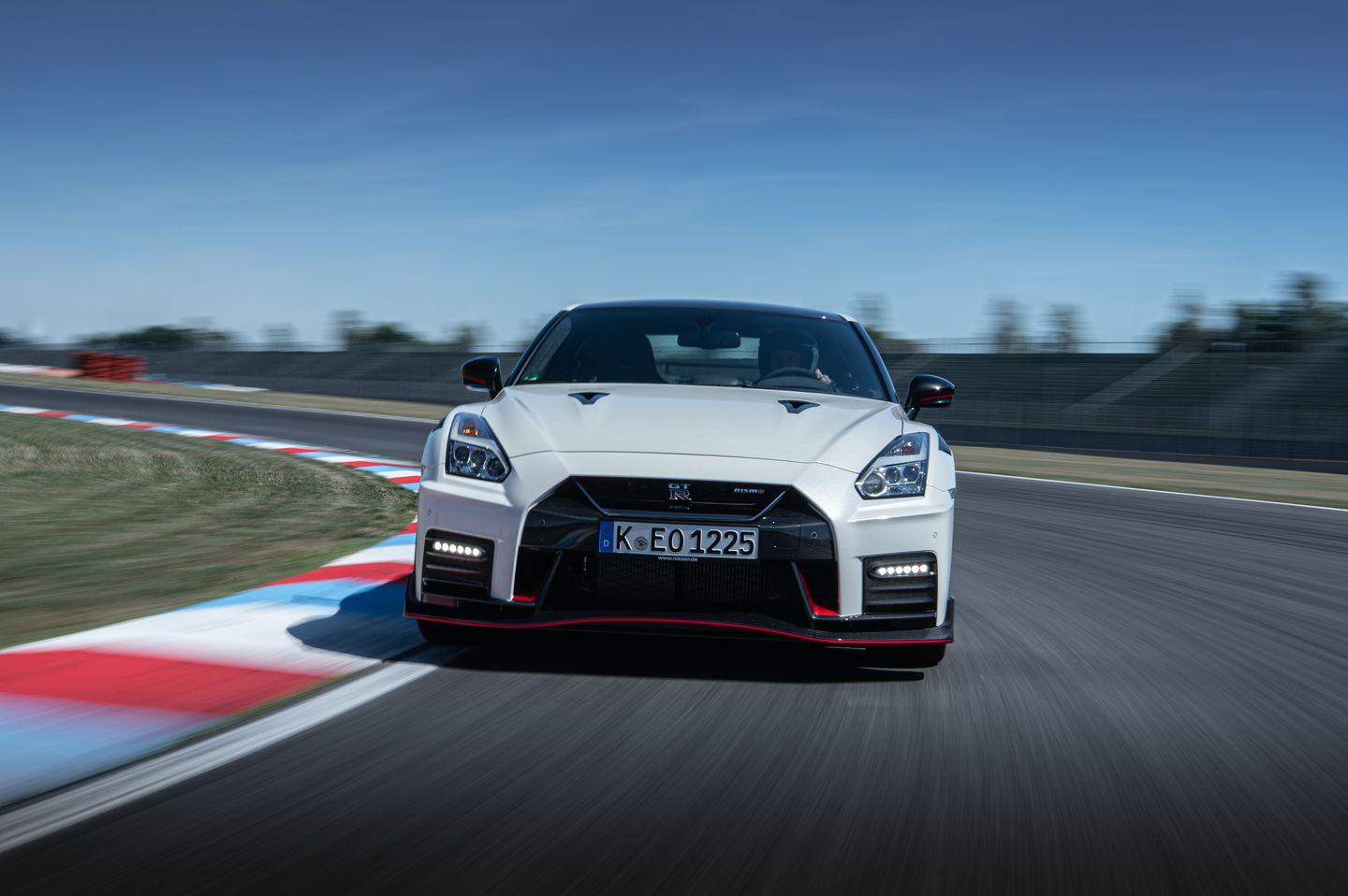 <p>The GT-R NISMO's twin-turbo 3.8-liter V-6 is still rated at 600 horsepower, but fresh turbochargers lifted from the racing program promise quicker throttle response.</p>
