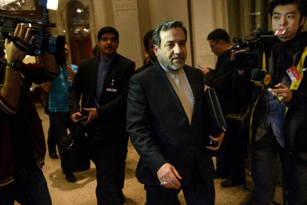 """""""Europe's efforts for implementing a financial mechanism are continuing despite mounting US pressure,"""" Iran's deputy foreign minister Abbas Araghchi, pictured in 2015, told the official IRNA news agency"""