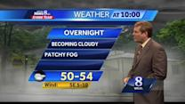Chance of showers late Wednesday