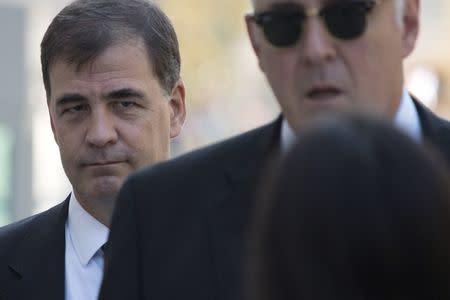 Alejandro Burzaco, exdirector de la empresa de marketing deportivo Torneos y Competencias, a su llegada a la Corte Federal de Brooklyn, EEUU