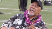 Hawaiian Singer Willie K. Stuns Crowd With Stirring National Anthem Makeover