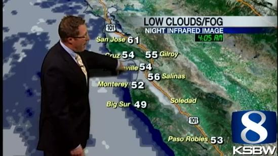 Get Your Tuesday KSBW Weather Forecast 7.09.13