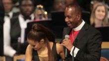 Aretha Franklin Funeral Bishop Apologizes to Ariana Grande for 'Too Friendly' Touch