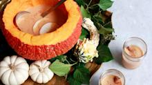 How to Turn Your Pumpkin Into a Fall-Inspired Punch Bowl