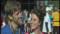Newly engaged couple at OKC marathon