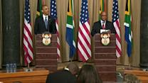 In South Africa, Obama pays tribute to ill Mandela