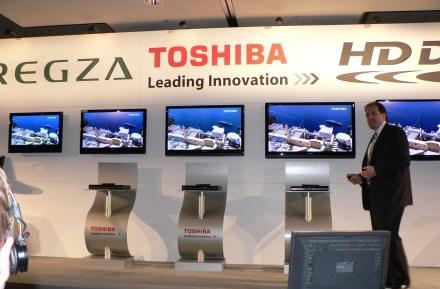 Toshiba announces slew of LCDs for 2008: hands-on and video
