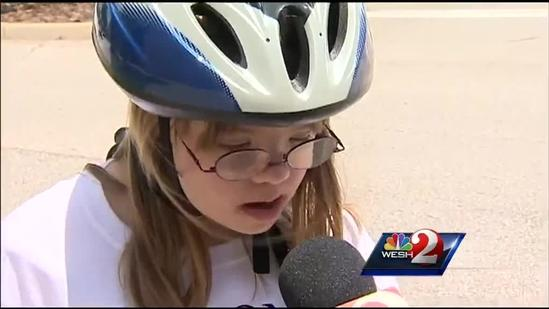 Kids, adults with special needs learn to ride bikes