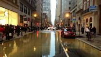 Water main break shuts down Center City street