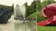 Trois sculpteurs contemporains installent leurs oeuvres monumentales à Fougères