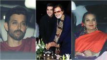 Hrithik Roshan, Randhir Kapoor, Shabana Azmi and others attend Sanjay Khan's birthday bash