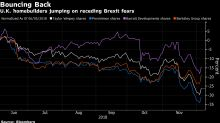 U.K. Housebuilders Are Surging as Chance of No-Deal Brexit Fades