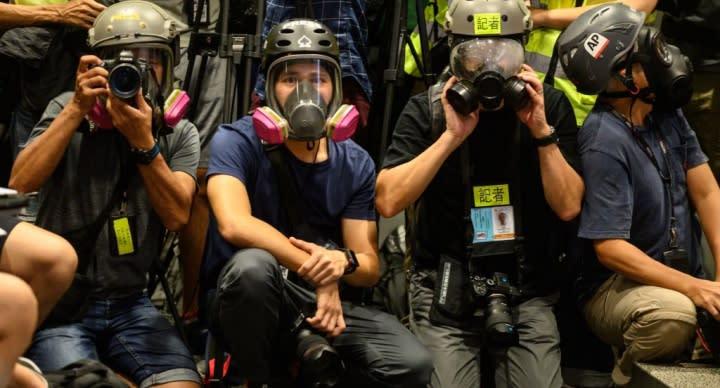 警方:讓部分傳媒採訪屬試行