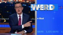Stephen Colbert says he originally came up with alligator moat idea: 'Trump is stealing all my bits'