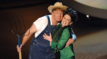 Megan Mullally horrified after Trump tweets old video of them singing 'Green Acres' to promote his farm bill signing: 'OMG'