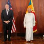 Pompeo says China has brought lawlessness to Sri Lanka and the Maldives