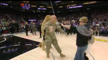 Soldier returns from Afghanistan to surprise his kids at Kings game
