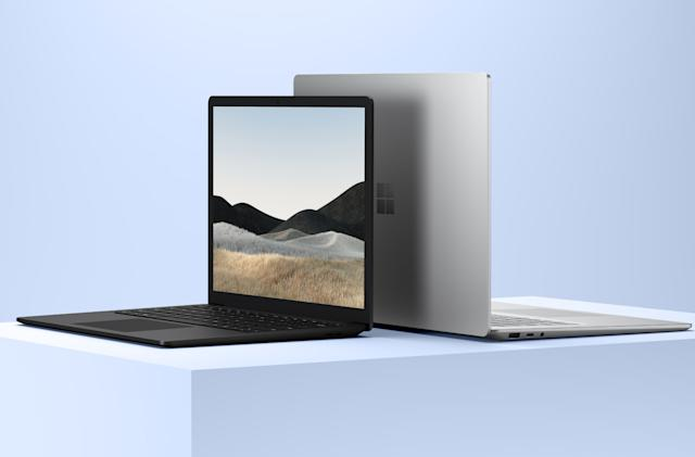 Microsoft's Surface Laptop 4 features Intel and AMD CPUs