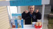 Boy Builds Adorable Ice Cream Shop to Raise Funds for Sick Children