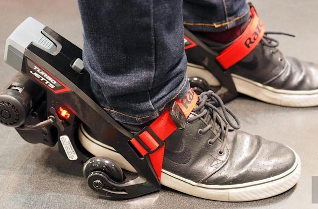 Razor's e-skates are equal parts Heelys and hoverboard
