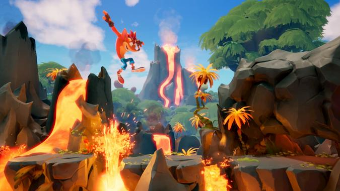 A screenshot from Crash Bandicoot 4: It's About Time