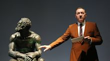 Kevin Spacey recites poem to museum visitors in Rome