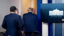 Trump abruptly escorted from briefing after shooting near WH