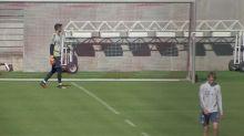 Bayern Munich train while practising social distancing