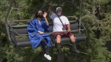 High school holds graduation ceremony on a ski lift