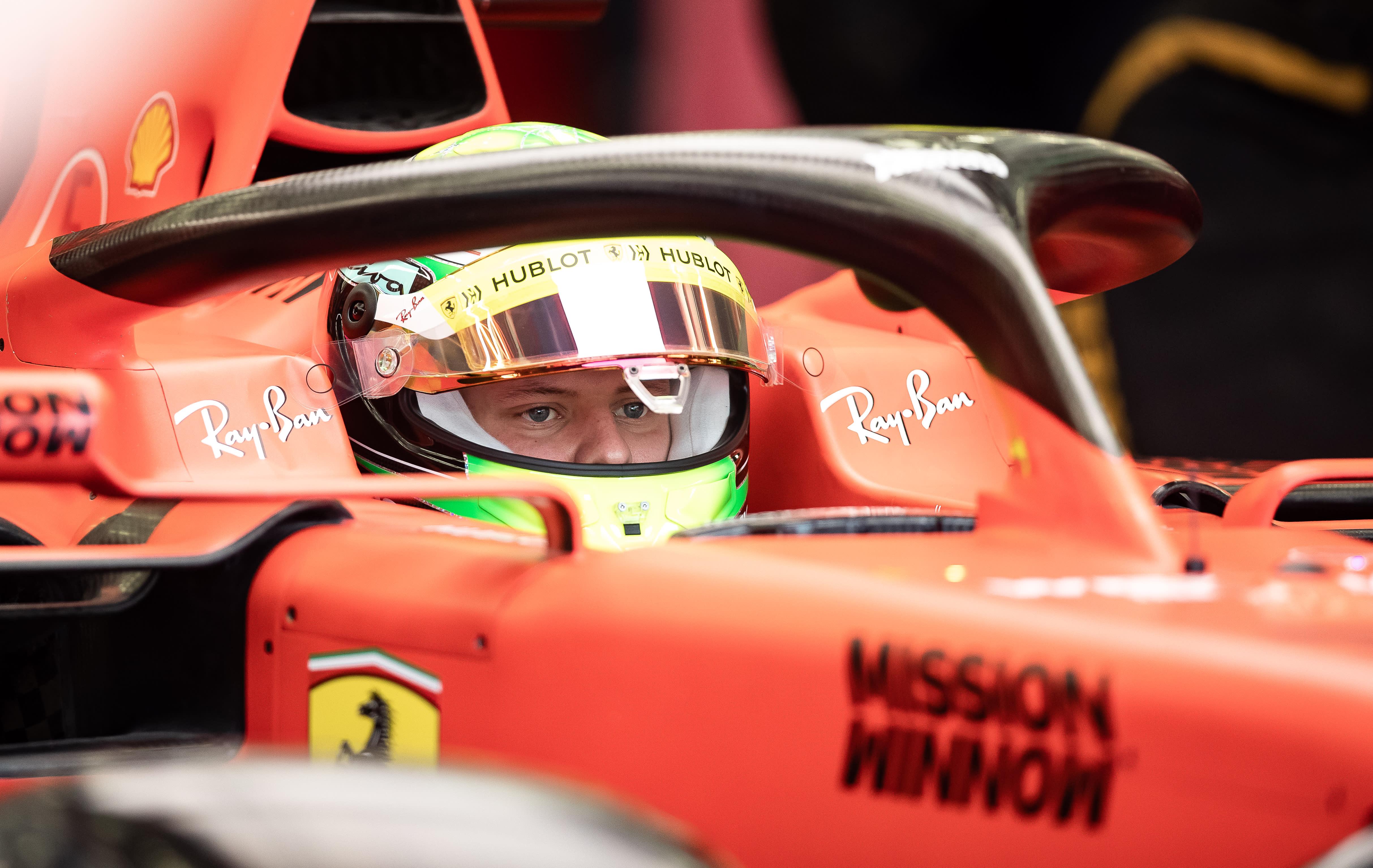 a2d3d7de70 Mick Schumacher makes Ferrari F1 debut at Bahrain test event