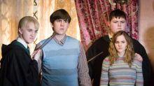 Harry Potter's Emma Watson, Tom Felton and Matthew Lewis in Hogwarts reunion