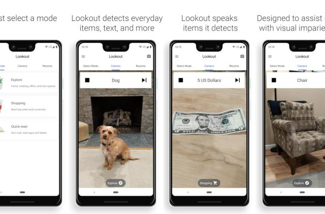 Google's Lookout app says what it sees for blind users in the US