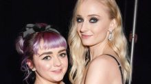 Hear Sophie Turner's Hilariously Dirty Commentary on Maisie Williams'   Game of Thrones Sex Scene