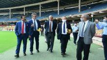 British envoy Alex Ellis visits Bengaluru's M Chinnaswamy stadium