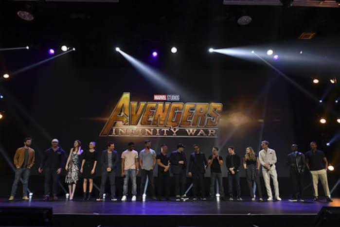 Avengers Infinity War cast d23 expo