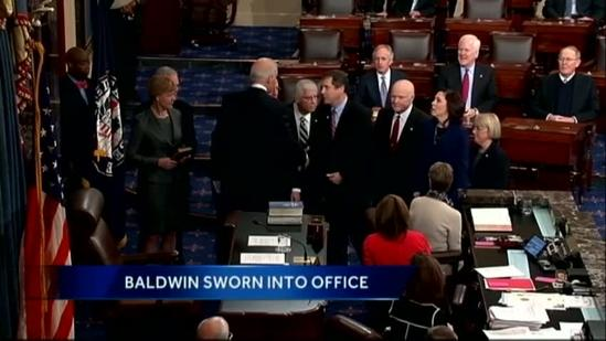Tammy Baldwin sworn in as U.S. senator