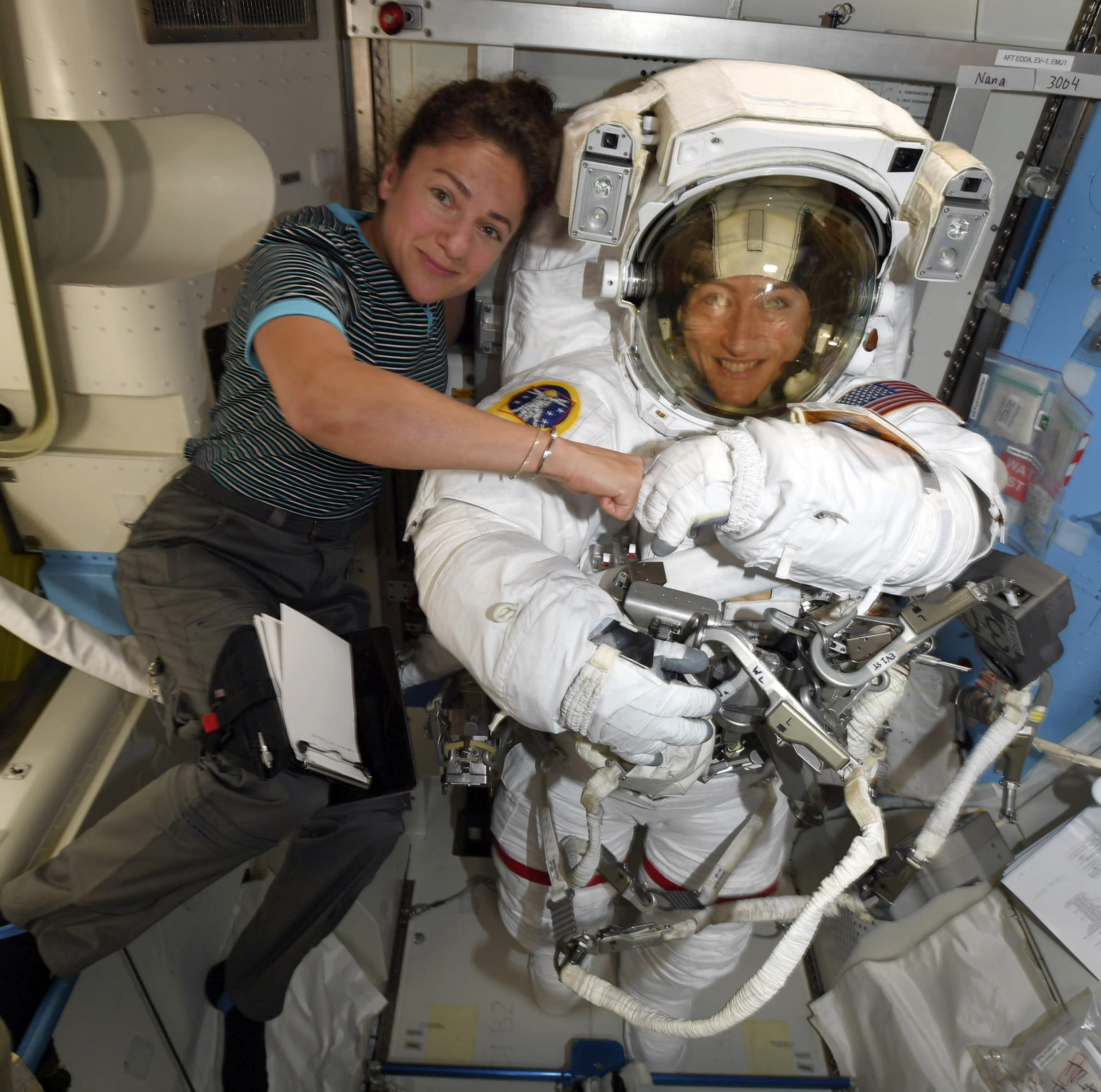 Astronauts replacing space station's old batteries in first of five spacewalks