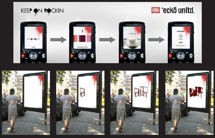 Ecko billboard lets your mobile handle the graffitiing