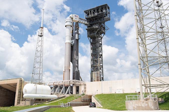 Boeing Starliner aboard ULA Atlas V rocket at Cape Canaveral
