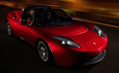 Tesla's electric roadster is lean, mean and very green