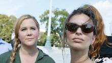 Amy Schumer and Emily Ratajkowski were detained at a Capitol Hill 'No Kavanaugh' protest