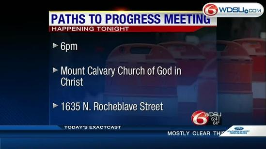 Paths to Progress to discuss road improvement plans