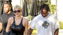 Kylie Jenner Wears Sexy Black Bodysuit for Day Date with Travis Scott