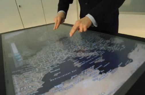 Evoluce 47-inch HD multitouch display gets off-screen gesture control