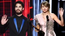 Darren Criss Hilariously Asks Taylor Swift to Sit Down at BBMAs so He Can Watch Shawn Mendes: Watch!