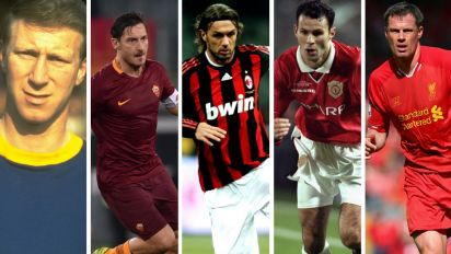 Terry, Totti, Giggs, Maldini and more: The top 20 one-club men of all time