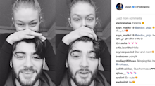 Zayn Malik purged his Instagram of Gigi Hadid